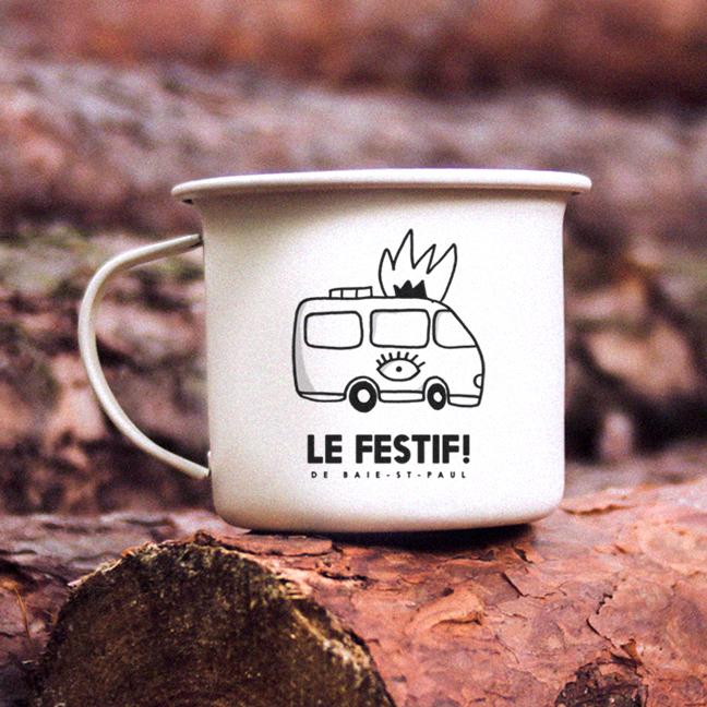 Tasse de camping - Le Festif! 2019 - Boutique | Le Festif! de Baie-Saint-Paul