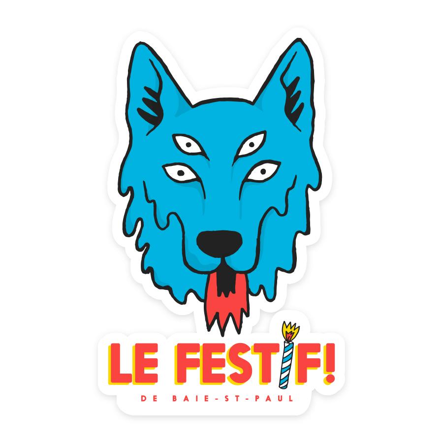 Autocollant - Le Festif! 2019 - Boutique | Le Festif! de Baie-Saint-Paul
